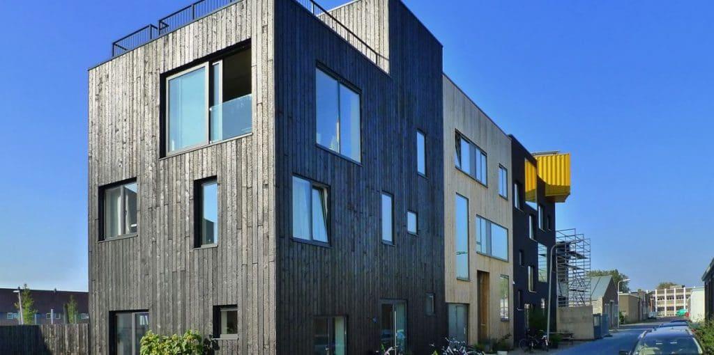 Havenwoningen-Deventer-Nieuwbouw-Gevel-Hout-Isofinish