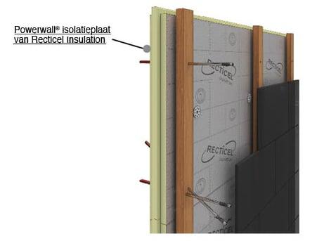 De dunne Powerwall® isolatieplaat is met z'n hoge isolatiewaarde de oplossing voor buitengevelisolatie