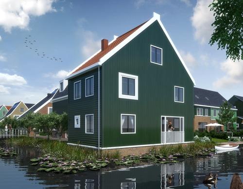 Nieuwbouw-Groenhout-Zaanse-Gevels-Isofinish