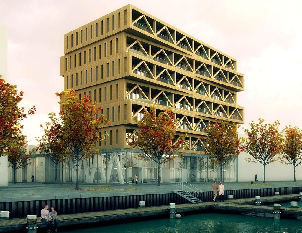 Patch22-hoogste-houten-gebouw-Isofinish-buitengevel-isolatie
