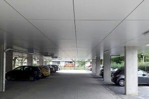 Plafond-isoleren-renoveren-parkeergarage-Isofinish